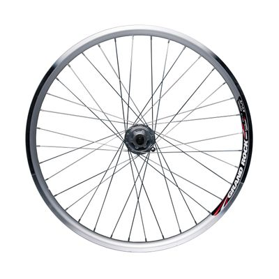 "FRONT WHEEL 28"" GRAND ROCK RMX 3019 DYNAMO JOYTECH 6V/3W  IN HUB / 36-holes. Col. Silver"