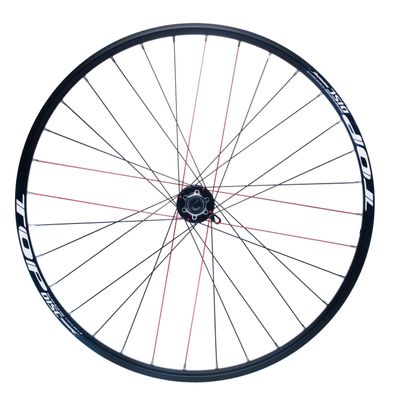 "FRONT WHEEL REMERX TOP DISC 28""-29"" PIASTA JOYTECH MACHINE BEARING / 32-holes Col.Black - Disc mounting :IS (6 screw) -Shimano"