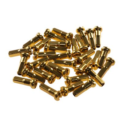 NIPPLES 2,0mm / 14 mm ALUMINUM  - CN SPOKE  packed 100 items - Gold