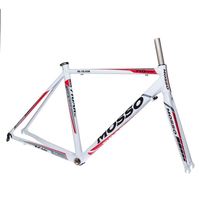 FRAME ROAD MOSSO 710ARC with Aluminum Fork Size : 490mm White  / Gray / Red Line