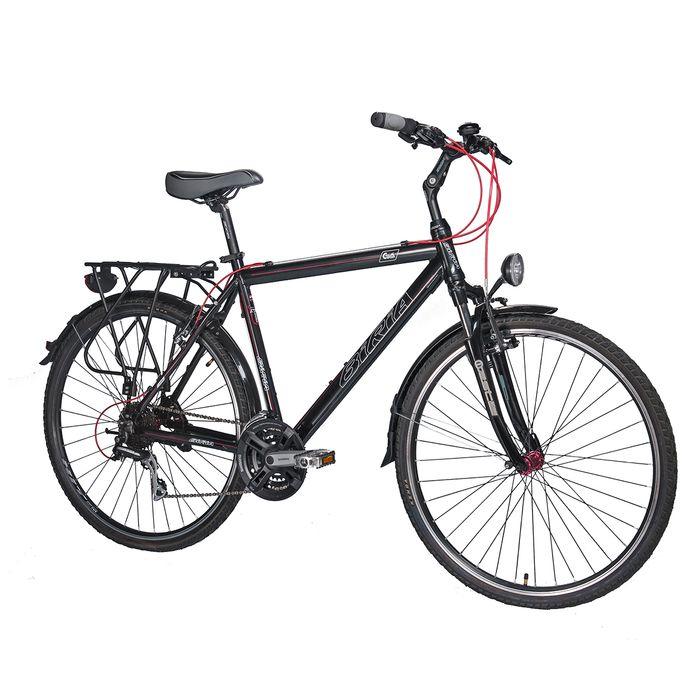 BICYCLE  BIRIA MEN' S TREKKING  - SH.TX/ACERA-3x8 (24- speed) Black / Red Line