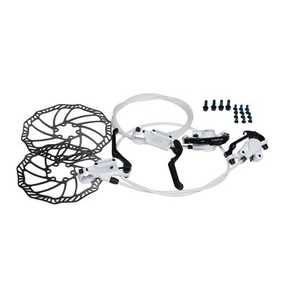 HYDRAULIC BRAKE   PROMAX-WHITE PFRONT + BACK